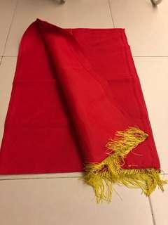 Wedding red cloth for door