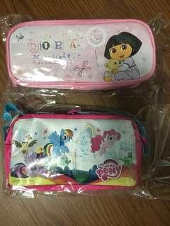 BNWT Dora   My Little Pony   Pencil case