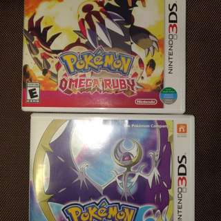 3DS pokemon Moon & Omege Ruby