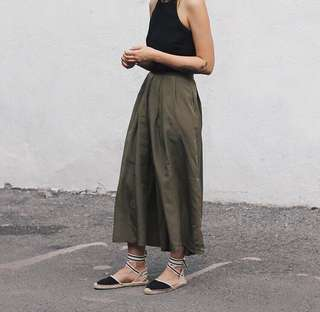 Vintage Skirt Army Green