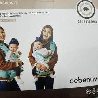 Bebenuvo韓國大象牌3in1 坐墊式嬰兒揹帶。9成新