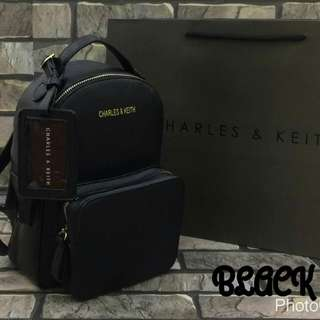 Charles & Keith Backpack Black Color