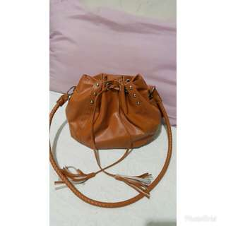Bucket Bag/Sling Bag - Brown