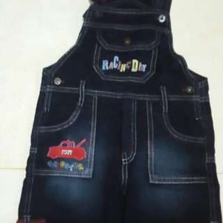 Baju kodok jeans Little m