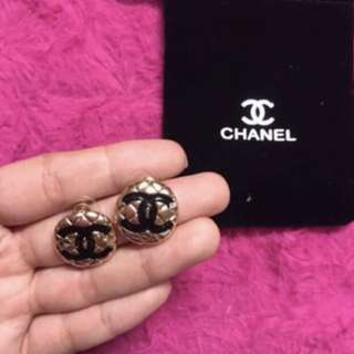 Chanel gold earrings