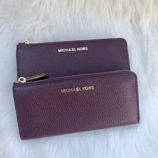 Michael Kors Bedford Large Wallet in Plum