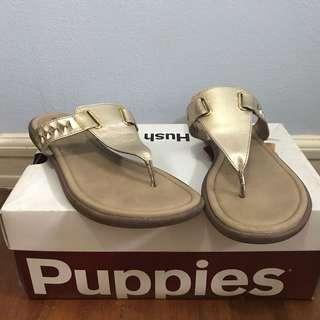Hush puppies gold sandals