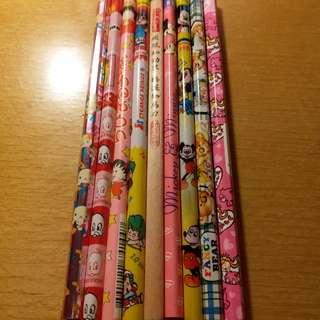 卡通鉛筆(9支)