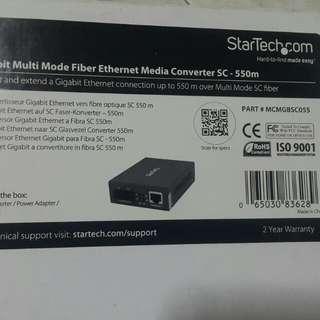 Gigabit Fiber Optic Converter SC-550m