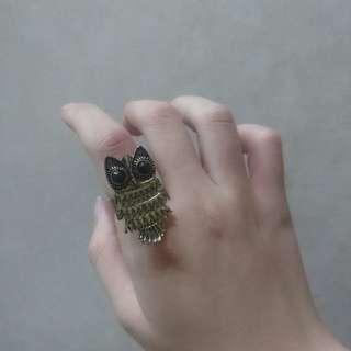 Owl Statement Ring