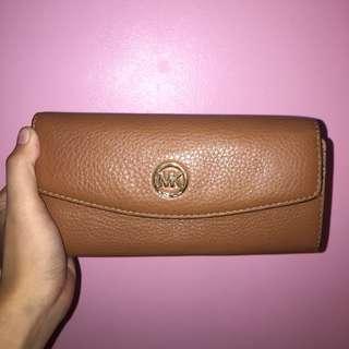 Michael Kors Fulton Leather Slim Flap Wallet