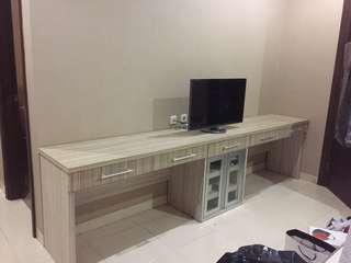 Jual meja tv panjang 3m
