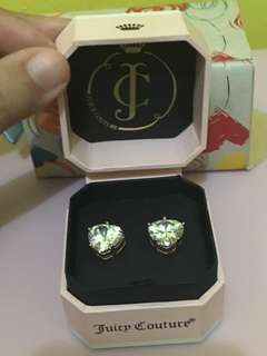 Authentic Juicy couture heart shape  earings