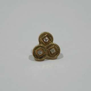 Auspicious Coin Pin from OE Jewerly