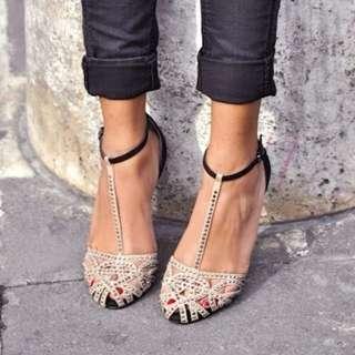 Zara Studded Flats Size AU 6/EU 37