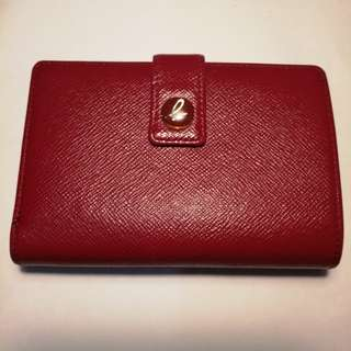 Agnes b wallet 紅色皮銀包