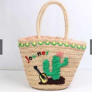 Embroidery Beach Shoulder Bag