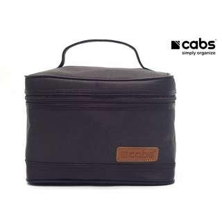 Cabs Pocket Cosmet - Tas Kosmetik Anti Air, Dompet Alat Make Up, Tas Organiser Tuk Bedak, Lipstik, Kaca, Eyeliner Dll - Brown