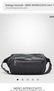 Bottega Veneta 男裝織皮腰包 多用途 容量大 全新購自意大利 保證真品