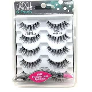 Ardell DEMI WISPIES x 5 PACK False Eyelashes Fake BLACK Lashes BRAND NEW IN PACK (NO OFFERS)