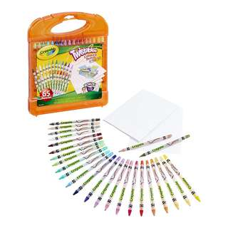 BRAND NEW Crayola; Twistables; Colored Pencils Kit; Art Tools; 25 Colored Pencils, 40 Sheets of Paper and Storage Case