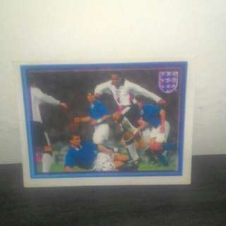 FOOTBALL Vintage Sticker (England vs Italy)
