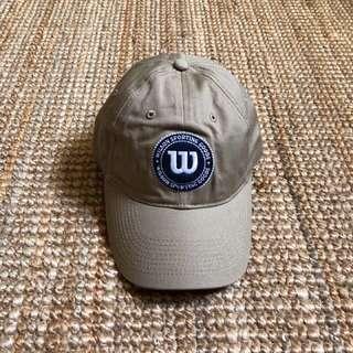 Outlet Wilson logo cap復古絕版卡其色棉質老帽