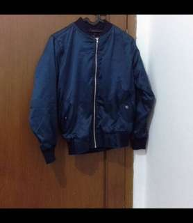 New jaket bomber biru