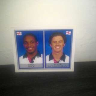 FOOTBALL Vintage Sticker (Paul Ince & Steven McManaman)
