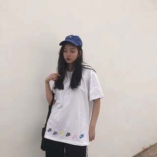Nike 七彩logo tee with two colors