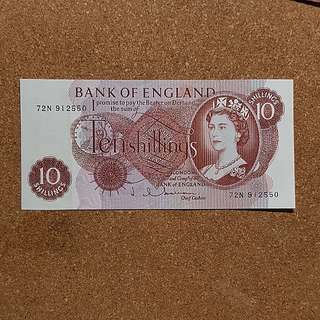 1962 Bank of England 10 Shillings