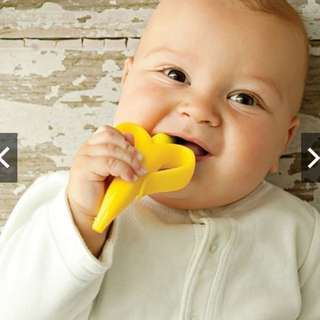 Teething Ring Banana Silicone Toothbrush