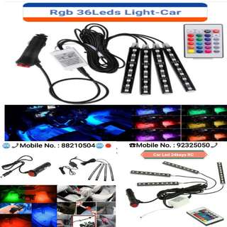 Car RGB LED Neon Light Wireless Remote Control Lamp Strip Decorative Lights