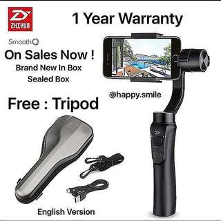 Last Unit Now ! Zhiyun Smooth Q with Free Tripod Now !