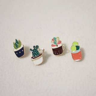 Succulents Enamel Pin Pack