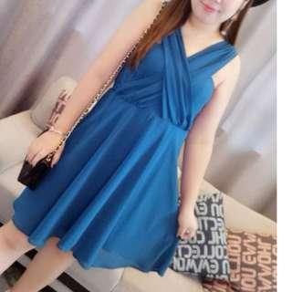 FLASH DEAL - Plus Size XL Forever21+ Bandaged Criss Cross A-line Classic Dress