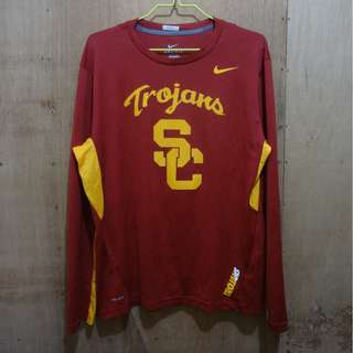 NIKE DRI-FIT TROJANS BASKETBALL CREWNECK SWEATER - XL