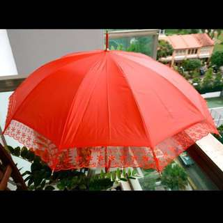Red Wedding Umbrella