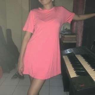 PINK-PEACH BASIC DRESS ( look-like H&M basic dress)