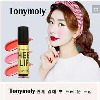 Tonymoly cheek lip