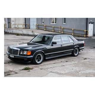 Mercedes Benz S Class W126 500se AMG Body kit