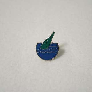 Floating Bottle Enamel Pin