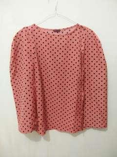 Baju blouse / polkadot / baju nagita slavina / baju jumbo