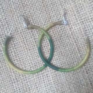 Hoop Earrings in Green Hues 💚