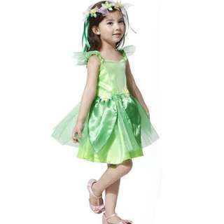children halloween costume for kids princess tinkerbell costumes gril Christmas cosplay Green Fairy tinker bell dress Carnival