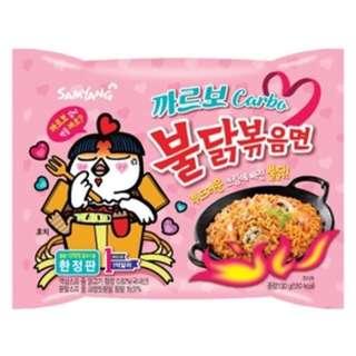 韓國三養辣雞麵 - 粉紅色奶油味