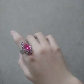 Pink Gem Statement Ring