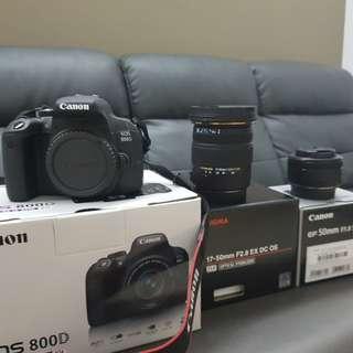 Canon 800d set