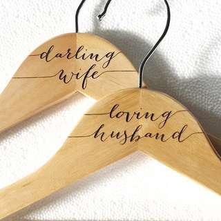 Clothes hanger for newlyweds
