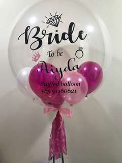 Bride to be Balloon, personalized balloon, customized balloon
